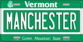 Manchester Vermont Background Wholesale Metal Novelty License Plate