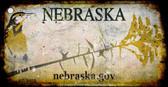 Nebraska Rusty Background Wholesale Novelty Key Chain
