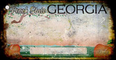 Georgia Rusty Background Wholesale Novelty Key Chain