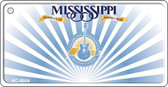 Mississippi Background Wholesale Novelty Key Chain