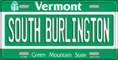 South Burlington Vermont Background Wholesale Metal Novelty License Plate