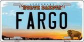 Fargo North Dakota Background Wholesale Metal Novelty License Plate