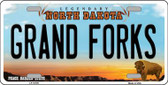Grand Forks North Dakota Background Wholesale Metal Novelty License Plate