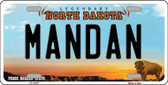 Mandan North Dakota Background Wholesale Metal Novelty License Plate