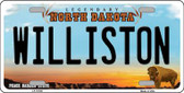 Williston North Dakota Background Wholesale Metal Novelty License Plate
