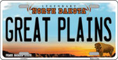 Great Plains North Dakota Background Wholesale Metal Novelty License Plate