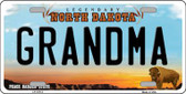 Grandma North Dakota Background Wholesale Metal Novelty License Plate
