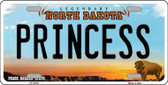 Princess North Dakota Background Wholesale Metal Novelty License Plate