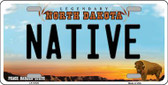 Native North Dakota Background Wholesale Metal Novelty License Plate