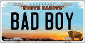 Bad Boy North Dakota Background Wholesale Metal Novelty License Plate