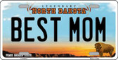 Best Mom North Dakota Background Wholesale Metal Novelty License Plate