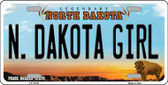 N Dakota Girl North Dakota Background Wholesale Metal Novelty License Plate