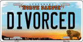 Divorced North Dakota Background Wholesale Metal Novelty License Plate