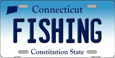 Fishing connecticut background wholesale metal novelty for Fishing license ct