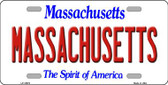 Massachusetts Background Wholesale Metal Novelty License Plate
