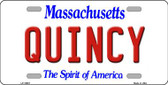 Quincy Massachusetts Background Wholesale Metal Novelty License Plate