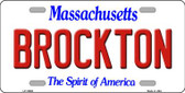 Brockton Massachusetts Background Wholesale Metal Novelty License Plate