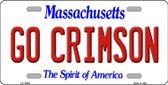 Go Crimson Massachusetts Background Wholesale Metal Novelty License Plate