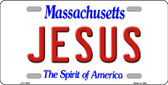 Jesus Massachusetts Background Wholesale Metal Novelty License Plate