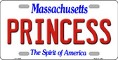 Princess Massachusetts Background Wholesale Metal Novelty License Plate