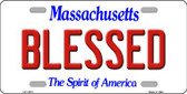 Blessed Massachusetts Background Wholesale Metal Novelty License Plate