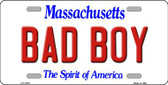 Bad Boy Massachusetts Background Wholesale Metal Novelty License Plate