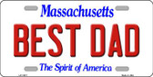 Best Dad Massachusetts Background Wholesale Metal Novelty License Plate