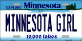 Minnesota Girl Minnesota Background Wholesale Metal Novelty License Plate