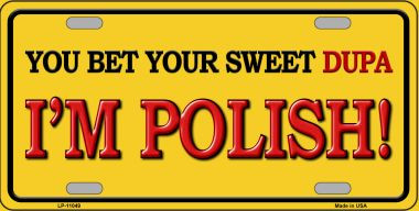 Im Polish Wholesale Metal Novelty License Plate