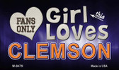 This Girl Loves Her Clemson Wholesale Novelty Metal Magnet