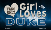 This Girl Loves Her Duke Wholesale Novelty Metal Magnet
