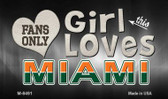 This Girl Loves Her Miami Wholesale Novelty Metal Magnet