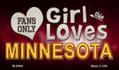 This Girl Loves Her Minnesota Wholesale Novelty Metal Magnet