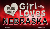 This Girl Loves Her Nebraska Wholesale Novelty Metal Magnet