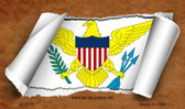 Virgin Islands US Flag Scroll Wholesale Novelty Metal Magnet