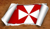 Wallis Flag Scroll Wholesale Novelty Metal Magnet