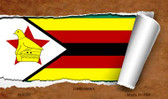 Zimbabwe Flag Scroll Wholesale Novelty Metal Magnet