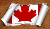 Canada Flag Scroll Wholesale Novelty Metal Magnet