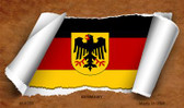 Germany Flag Scroll Wholesale Novelty Metal Magnet