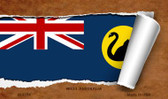 West Australia Flag Scroll Wholesale Novelty Metal Magnet