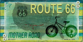 Route 66 Novelty Wholesale Metal Bicycle License Plate