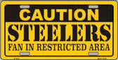 Caution Steelers Wholesale Metal Novelty License Plate LP-2517