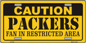 Caution Packers Wholesale Metal Novelty License Plate LP-2519