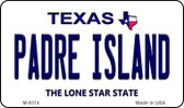 Padre Island Texas Background Wholesale Novelty Metal Magnet M-9374