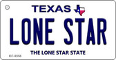 Lone Star Texas Background Wholesale Novelty Key Chain