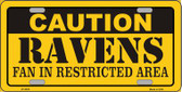 Caution Ravens Wholesale Metal Novelty License Plate LP-2525