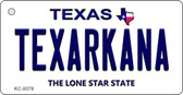 Texarkana Texas Background Wholesale Novelty Key Chain
