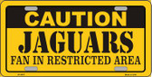 Caution Jaguars Wholesale Metal Novelty License Plate LP-2527