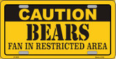 Caution Bears Wholesale Metal Novelty License Plate LP-2530