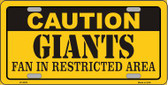 Caution Giants Wholesale Metal Novelty License Plate LP-2532